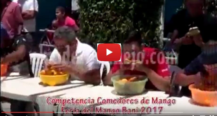 Competencia Comedores de Mango Feria del Mango Bani 2017